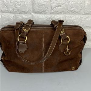 The Sak Suede Leather Bag Distressed